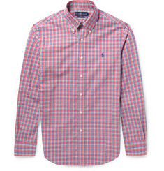 Polo Ralph Lauren - Slim-Fit Button-Down Collar Checked Cotton Shirt
