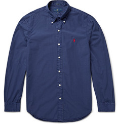 Polo Ralph Lauren Slim-Fit Cotton and Silk-Blend Shirt