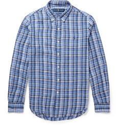 Polo Ralph Lauren Custom-Fit Checked Linen Shirt
