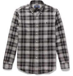 Polo Ralph Lauren Button-Down Collar Checked Brushed-Cotton Shirt