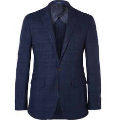Polo Ralph Lauren Navy Slim-Fit Tweed Blazer