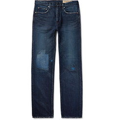 KAPITAL Cisco Distressed Washed-Denim Jeans