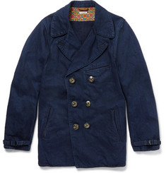 KAPITAL Double-Breasted Denim Peacoat