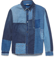 KAPITAL Katmandu Patchwork Denim Shirt