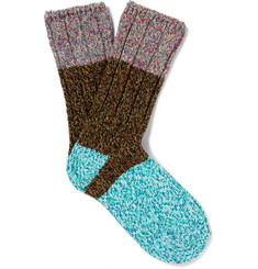 KAPITAL Colour-Block Knitted Socks