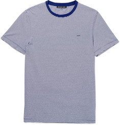 Michael Kors Slim-Fit Striped Cotton-Jersey T-Shirt