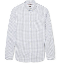 Michael Kors Slim-Fit Windowpane-Checked Cotton Shirt