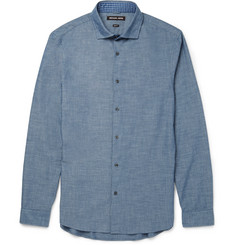 Michael Kors Slim-Fit Cotton-Chambray Shirt