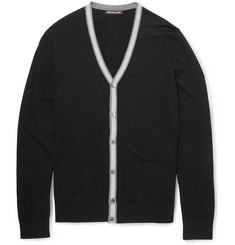 Michael Kors Contrast-Trimmed Knitted Cardigan
