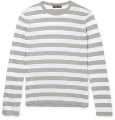 Michael Kors Striped Knitted Cotton Sweater