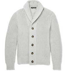 Michael Kors Shawl-Collar Cotton-Blend Cardigan