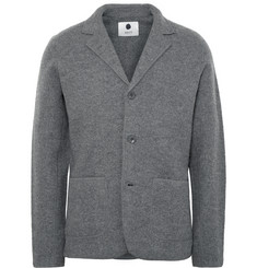NN07 Grey Wallace Slim-Fit Boiled Wool Blazer