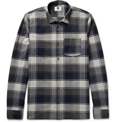 NN.07 Pedro Checked Brushed Cotton-Flannel Shirt
