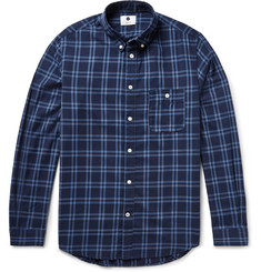 NN07 New Derek Slim-Fit Checked Cotton-Twill Shirt