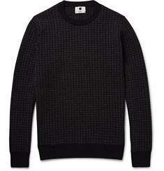 NN.07 Conrad Houndstooth Wool-Blend Sweater