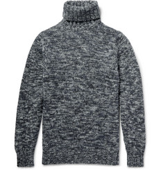 NN07 Cooper Mélange Chunky-Knit Wool Rollneck Sweater
