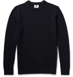 NN07 Textured Wool-Blend Sweater