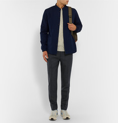 NN.07 Copenhagen Slim-Fit Drawstring Flannel Trousers