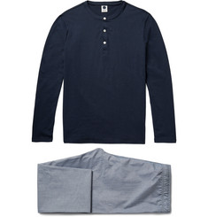NN07 Sleepwell Cotton-Jersey and Chambray Pyjama Set