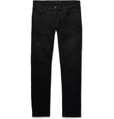 Nudie Jeans Tight Long John Skinny-Fit Coated Organic Stretch-Denim Jeans