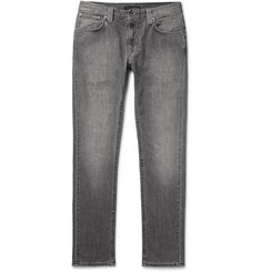 Nudie Jeans Thin Finn Slim-Fit Washed Organic Stretch-Denim Jeans