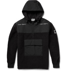 Cav Empt Hooded Half-Zip Fleece and Shell Jacket