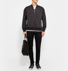 Cav Empt Half-Zip Embellished Cotton Bomber Jacket