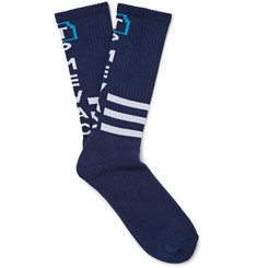 Cav Empt Patterned Cotton-Blend Socks