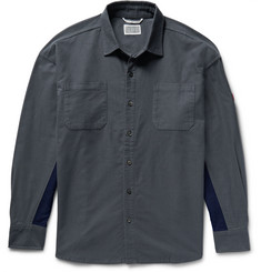 Cav Empt Panelled Cotton-Flannel Shirt
