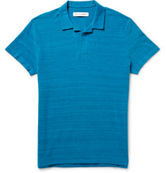Orlebar Brown Felix Slim-Fit Mélange Cotton-Piqué Polo Shirt