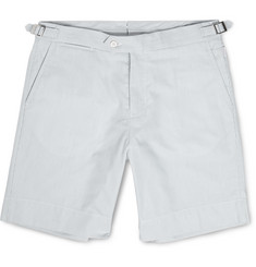 Orlebar Brown Norwich Striped Mid-Length Cotton-Seersucker Shorts