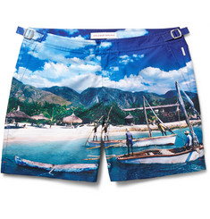 Orlebar Brown Bulldog Printed Mid-Length Swim Shorts