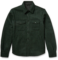 Aspesi Harris Wool-Tweed Shirt Jacket