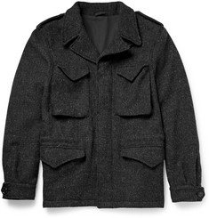 Aspesi Harris Wool-Tweed Field Jacket