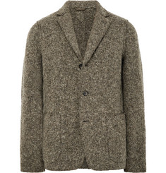 Aspesi Grey Slim-Fit Unstructured Boiled Wool-Blend Blazer