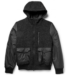 Aspesi Reversible Bouclé and Shell Hooded Jacket