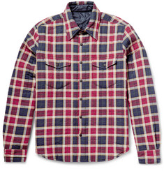 Aspesi Reversible Thermore®-Padded Flannel and Shell Shirt Jacket