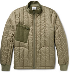 Aspesi - Felt-Panelled Padded Shell Jacket