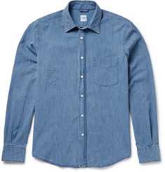 Aspesi Slim-Fit Cotton-Chambray Shirt