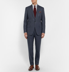 Kingsman Navy Slim-Fit Birdseye Wool Suit