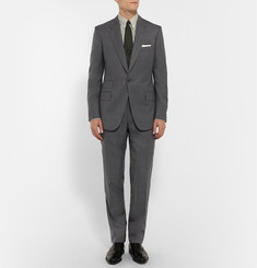Kingsman Grey Slim-Fit Puppytooth Checked Wool Suit