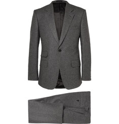 Kingsman Grey Slim-Fit Wool-Flannel Suit