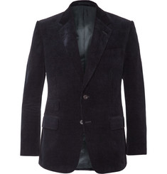 Kingsman Navy Slim-Fit Cotton-Corduroy Blazer