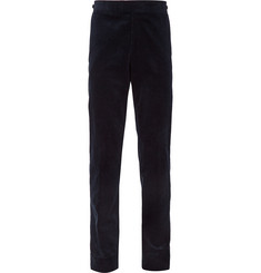 Kingsman Navy Slim-Fit Cotton-Corduroy Trousers