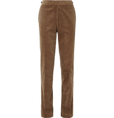 Kingsman Tan Slim-Fit Cotton-Corduroy Trousers