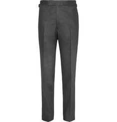 Kingsman - Charcoal Wool-Flannel Trousers