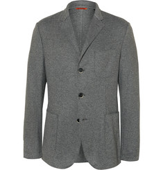 Barena Grey Unstructured Wool-Blend Blazer