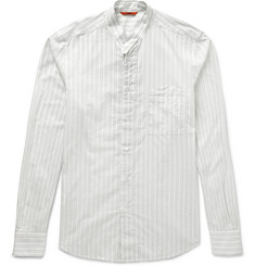 Barena Striped Grandad-Collar Cotton Henley Shirt