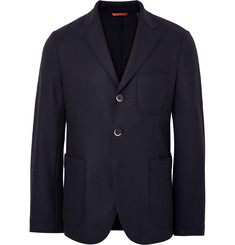 Barena Midnight-Blue Slim-Fit Unstructured Virgin Wool-Blend Blazer