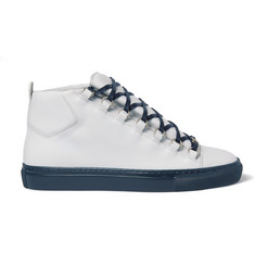 Balenciaga - Arena Leather High-Top Sneakers
